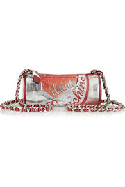 Drink printed leather shoulder bag