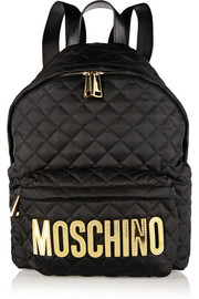Moschino Appliquéd quilted shell backpack