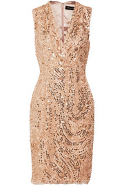 Jenny Packham Embellished tulle dress