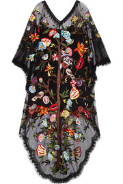 Valentino Embellished embroidered tulle gown