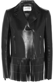 Valentino Studded fringed leather jacket