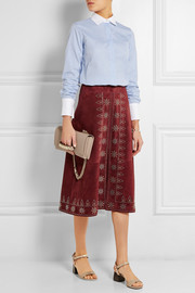 Valentino Studded suede skirt