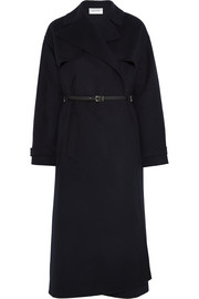 Belted wool and cashmere-blend trench coat