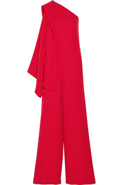 One-shoulder cady jumpsuit