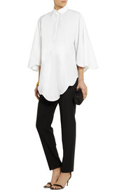 Valentino Scalloped cotton-poplin shirt