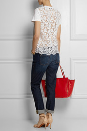 Valentino Cotton and lace T-shirt