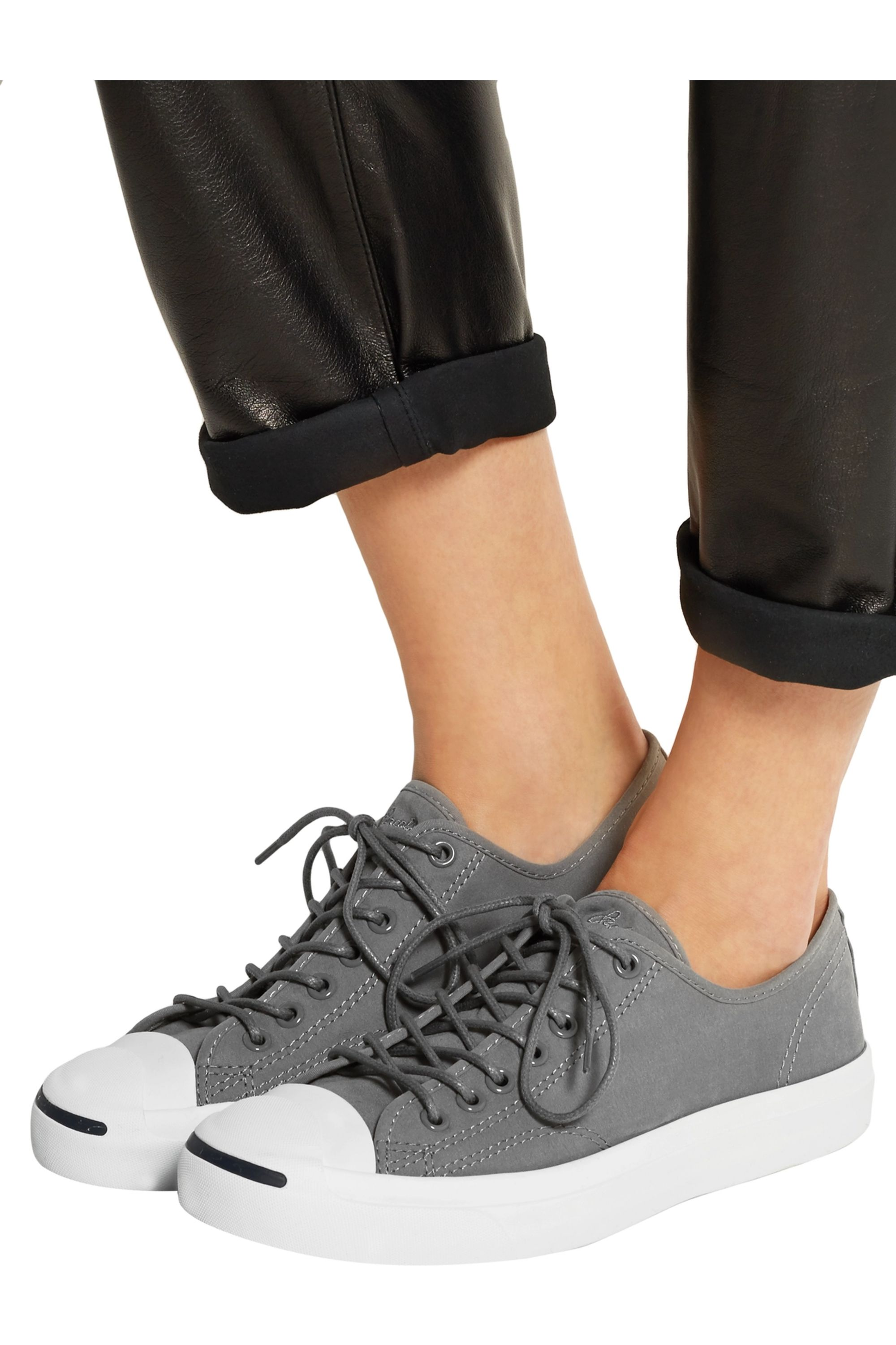 Gray Jack Purcell canvas sneakers