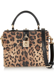 Dolce small leopard-print textured-leather shoulder bag