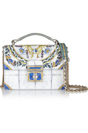 Rosalita mini printed patent-leather shoulder bag