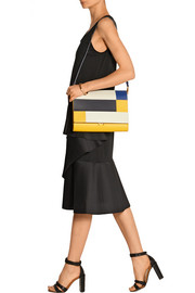 Marni File color-block leather clutch