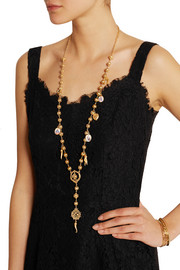 Gold-plated Swarovksi crystal necklace