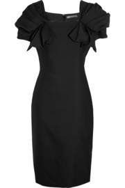 Alexander McQueen Wool and silk-blend dress