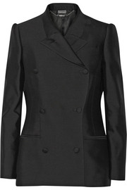 Wool and silk-blend twill blazer