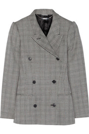 Glen plaid wool and mohair-blend blazer