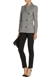 Alexander McQueen Glen plaid wool and mohair-blend blazer