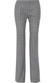 Prince of Wales check wool-blend bootcut pants