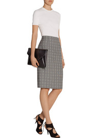 Alexander McQueen Prince of Wales check wool-blend pencil skirt