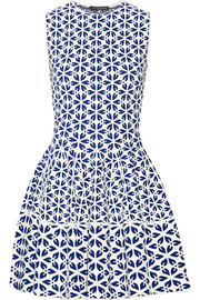 Jacquard-knit mini dress