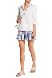 Floral stretch-jacquard shorts