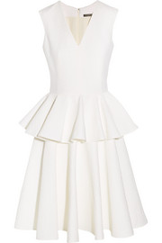Alexander McQueen Cotton-blend cloqué dress
