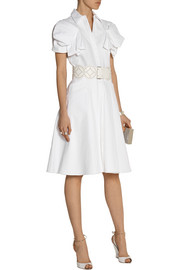 Alexander McQueen Cotton-piqué shirt dress