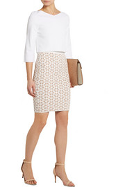 Alexander McQueen Jacquard-knit pencil skirt