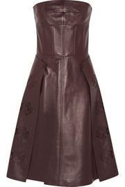 Alexander McQueen Laser-cut leather dress