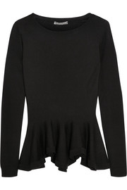 Wool peplum sweater