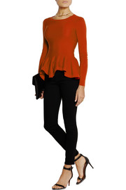 Merino wool peplum sweater