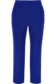Alexander McQueen Cropped crepe tapered pants