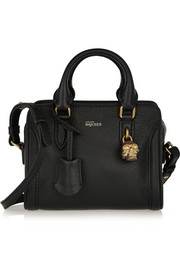 Alexander McQueen Padlock mini textured-leather shoulder bag