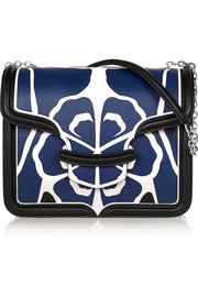 Alexander McQueen The Heroine large floral-appliquéd leather shoulder bag