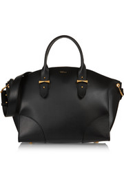 Legend medium leather trapeze tote