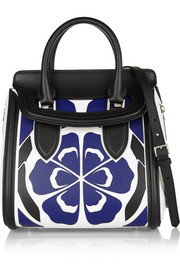 The Heroine small floral-appliquéd leather shoulder bag
