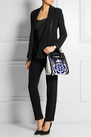 Alexander McQueen The Heroine small floral-appliquéd leather shoulder bag
