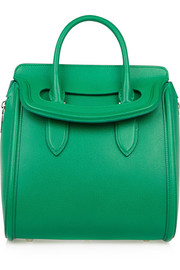 The Heroine large textured-leather tote