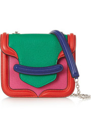 The Heroine mini textured-leather shoulder bag
