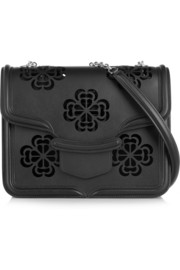 Alexander McQueen The Heroine large laser-cut leather shoulder bag