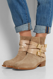 Rupert Sanderson Parnassus suede and leather ankle boots