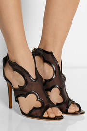 Rupert Sanderson Estelle cutout mesh and leather sandals