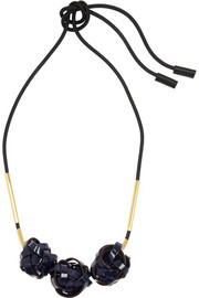 Marni Gold-plated, rope and PVC necklace