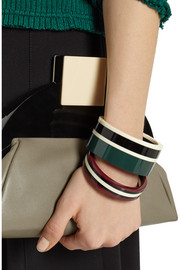 Marni Set of two resin bracelets