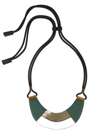Leather and horn necklace