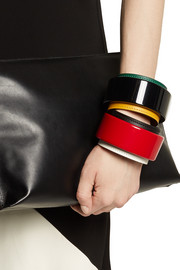 Marni Resin and leather bracelet