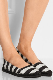Striped brocade espadrilles