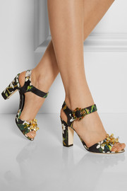 Dolce & Gabbana Embellished brocade sandals
