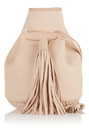 Bullet leather bucket bag