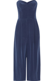 Milly Washed-silk jumpsuit