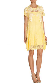 Notte by Marchesa Embellished lace mini dress