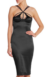 Quincy stretch-satin chemise